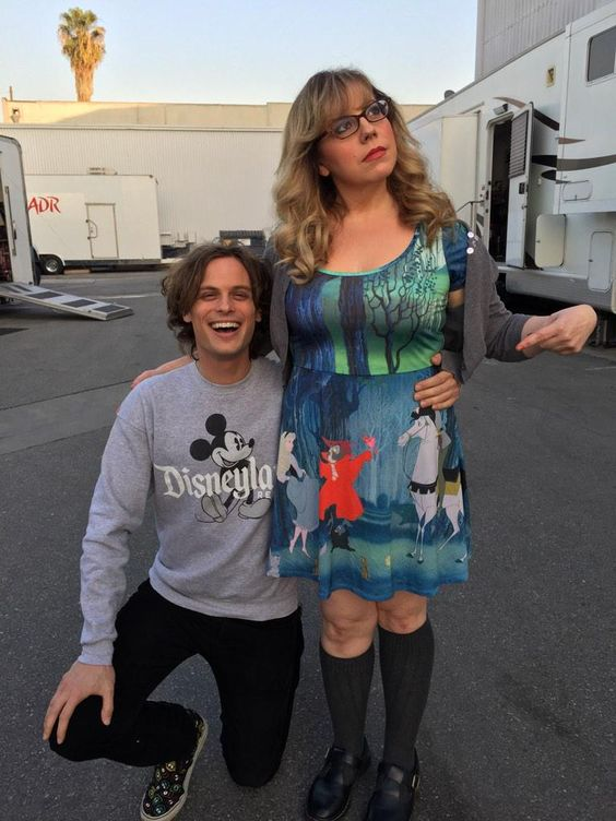 my favourites from Criminal Minds - Matthew Grey Gubler & Kirsten Vangsness (adorable photo from Matthew's twitter)
