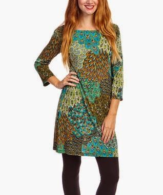 Peacock Dress.... Cute with leggings and boots