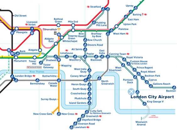 London Underground And DLR Network Maps