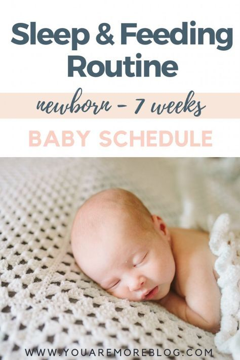 Newborn To Seven Week Baby Schedule You Are More Blog Baby Schedule Newborn New Baby Products