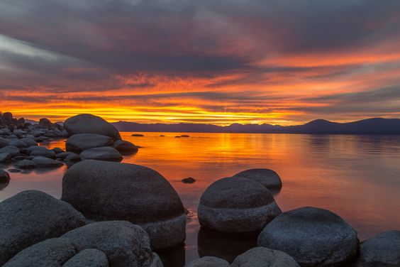 """Lake Tahoe Sunset Reflections"" by Marc Crumpler"