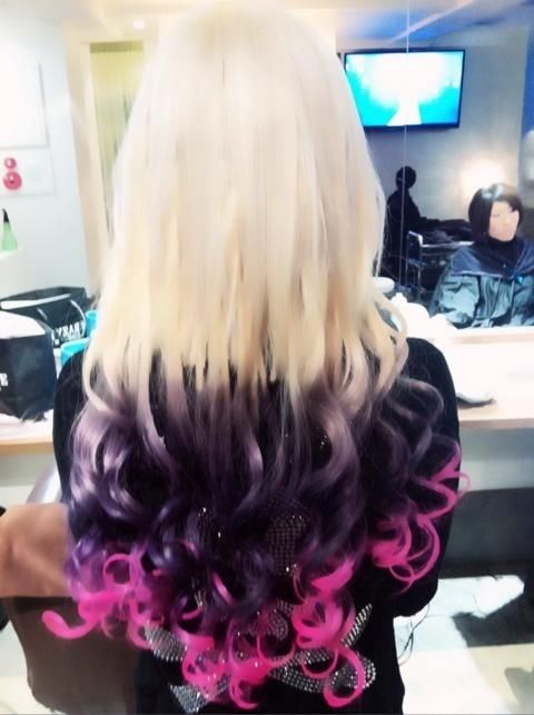 Cool Blondes Pink Black And Purple On Pinterest Hairstyles For Women Draintrainus
