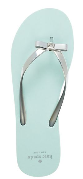 Love these mint bow flip flops