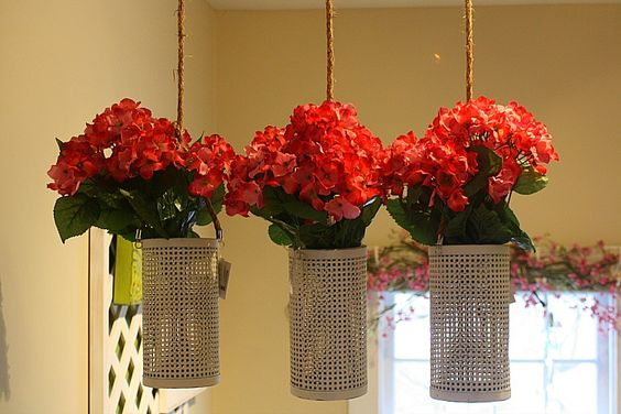 Colorful hanging flowers to lightening up your living space this spring. #SpreadtheBeautiful
