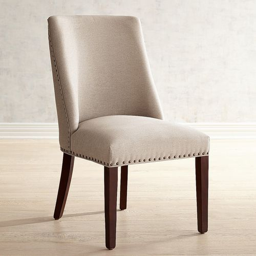 Corinne Pierformance Stone Dining Chair With Espresso Wood