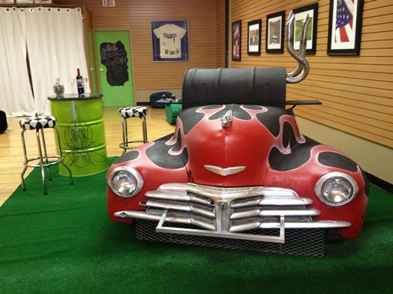Man Cave Bbq Accessories : Chevy fleetmaster charcoal grill car themed stuff