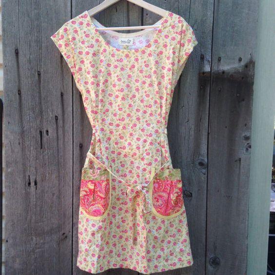 Adult farmhouse dress modern XL floral by BirchLakeSigns on Etsy