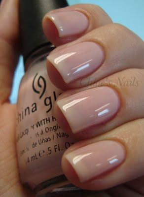 2 coats of China Glaze Diva Bride. Just bought this today...one of my favorite neutral colors so far!