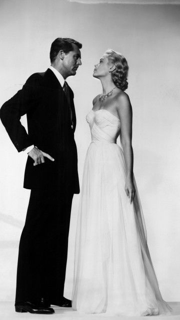 Grace Kelly with co-star Cary Grant in the 1955 romantic thriller To Catch a Thief directed by Alfred Hitchcock.
