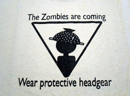 Zombie Warning sign Tshirt by KiWiCuties on Etsy, $15.00