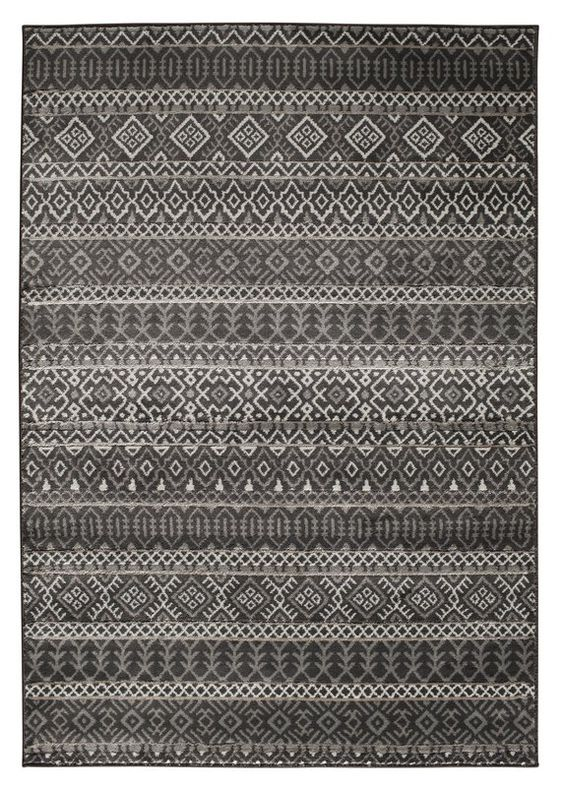 Adette Gray Area Rug Rugs Striped Rug Grey Area Rug