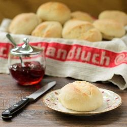 Brotchen  - German rolls that are crusty on the outside and soft on the inside.