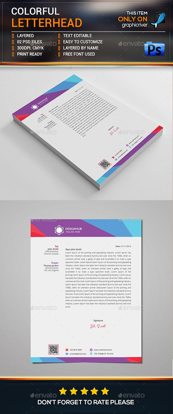 Letterhead Template - Download Free Forms \ Samples for PDF, Word - free letterhead templates download