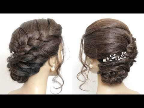 Braided Side Bun Updo Hairstyles For Long Hair Youtube Bunupdo Braided Side Bun Updo Hairst Side Bun Hairstyles Braided Updo Long Hair Braid Updo Tutorial
