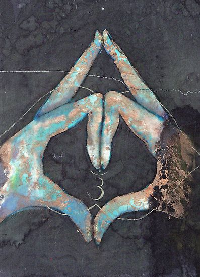 Ajna - third eye chakra mudra  by Tilly Campbell-Allen