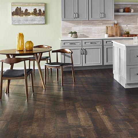 Molasses Maple Natural Laminate Floor With Wear And Spill Protection Brown Maple Wood Finish Maple Laminate Flooring Brown Laminate Flooring Laminate Flooring