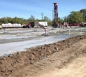 Geothermal wells will supply new housing and dining facilities with efficient heating and cooling at Miami University.