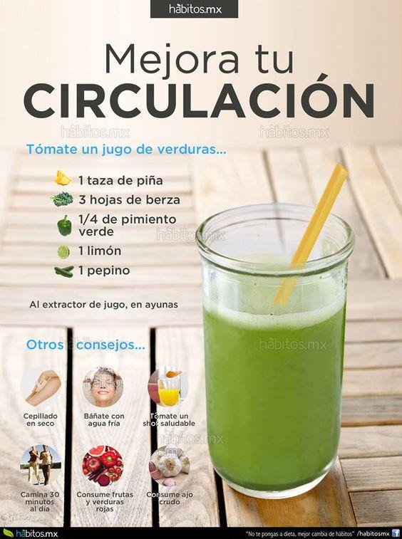 H bitos health coaching jugo de verduras para mejorar la circulaci n gripe alergia - Alimentos para la circulacion ...