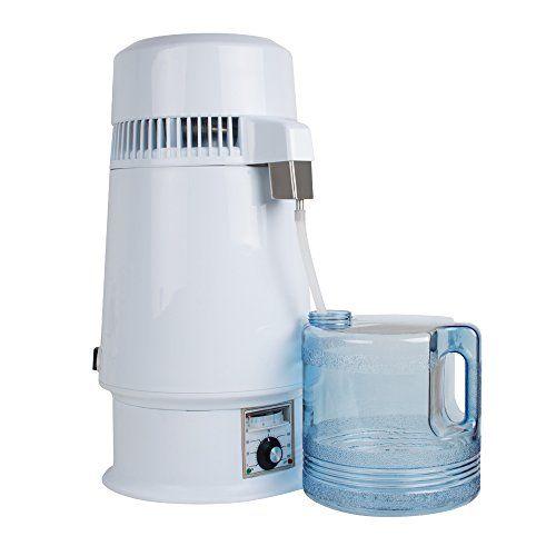 Genmine Pure Water Distiller Machine Adjustable Temperature 1 Gal 4l 750w Stainless Steel Countertop Water Dist Pure Water Distillation Pure Products