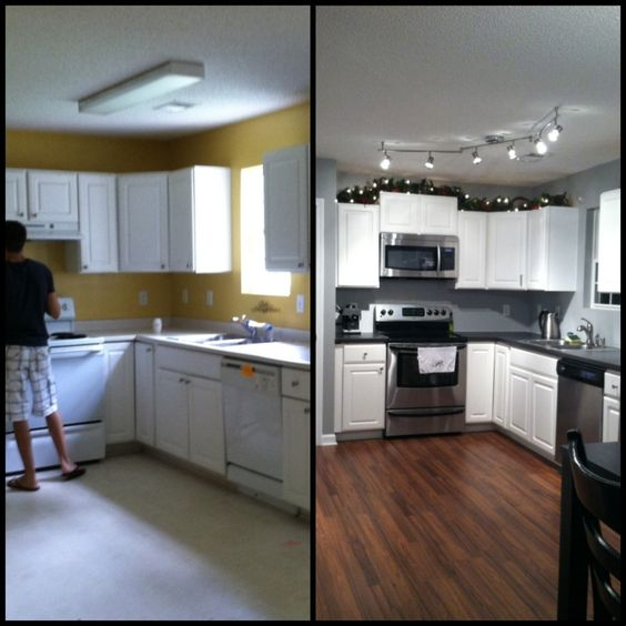 Home design and classy on pinterest - Remodeling a small kitchen before and after ...