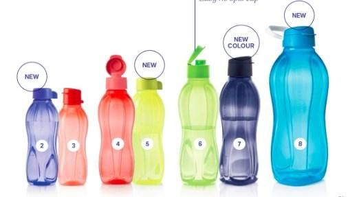 Tupperware Eco Bottles Choice Of Sizes And Caps Bottle Tupperware Bottle Sizes