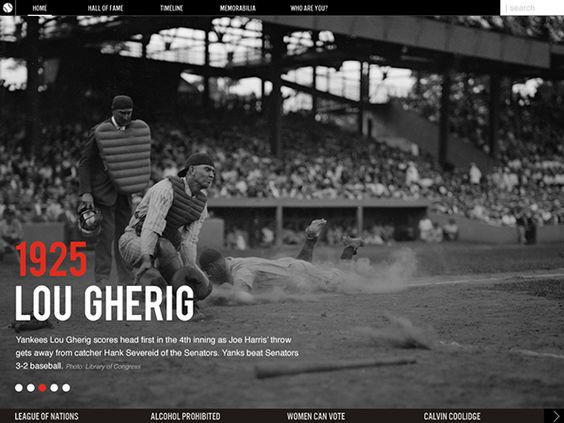 Baseball As America Digital Exhibit & App Design on Behance