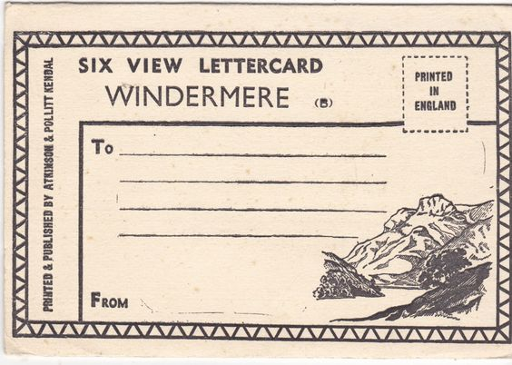 SIX VIEW LETTER CARD, WINDERMERE (ref 7159/14/A)
