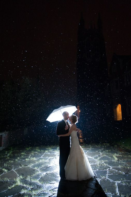 Backlit Rain White Umbrella Wedding Picture At Colgate Divinity School In Rochester Ny By Johnlarkinphotography Master Plan Pinterest