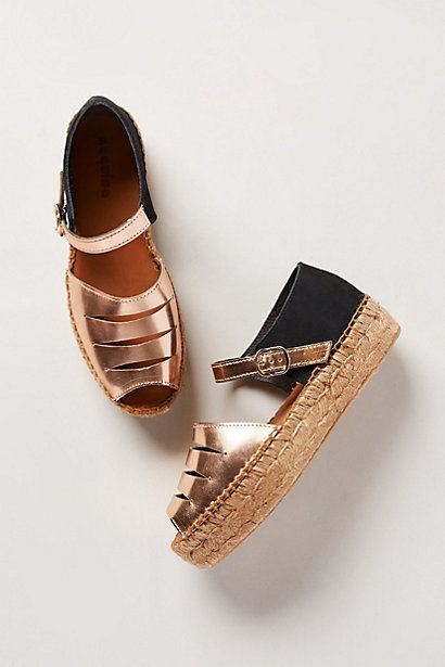 A new take on the classic Espadrille by Naguisa from anthropologie online.