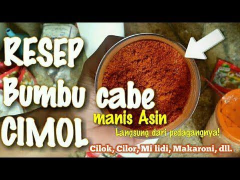 Resep Bumbu Cabe Untuk Cimol Cilok Cilor Makaroni Mi Lidi Youtube Resep Resep Makanan Makanan