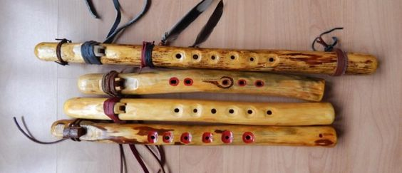 A couple of branch flutes I made.