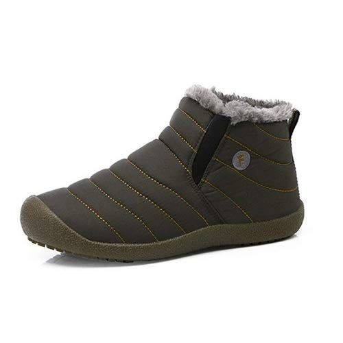 aeepd Winter Snow Boots Men Women Water-Resistant Fur Lined Shoes Outdoor Anti-Slip Ankle Bootie
