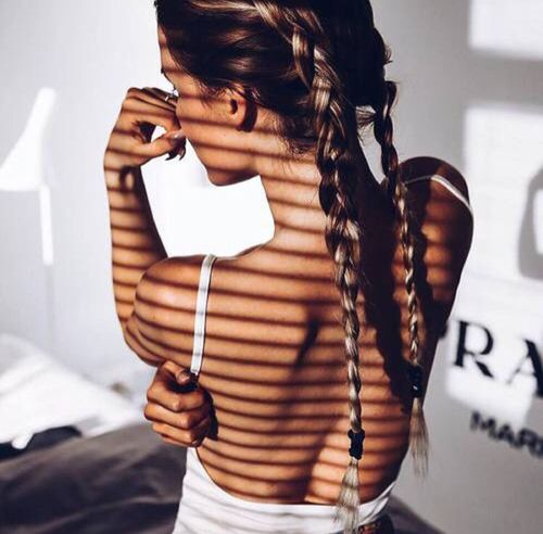 รูปภาพ girl, hair, and braid
