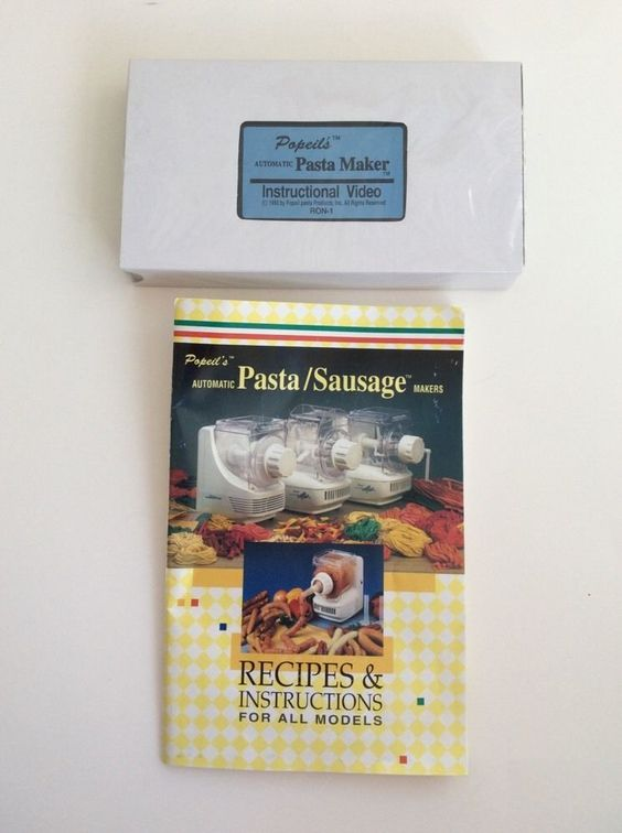 Popeils Pasta Sausage Maker Instructional Video NEW Recipe Book Instructions #Popeil