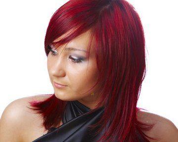 cheveux couleur noir rouge bordeaux recherche google - Coloration Sur Cheveux Noir
