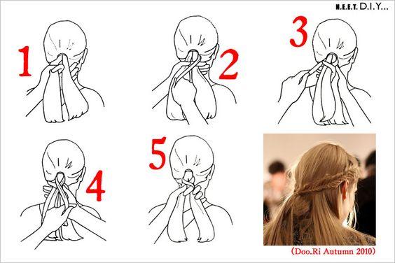 how to fishtail braid diagram - photo #11