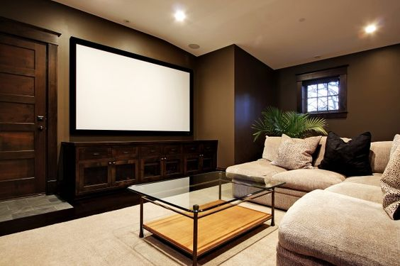 Media Room: Home Theater, Movie Room, Wall Color,  Home Theatre, Media Room, Room Design, House Idea