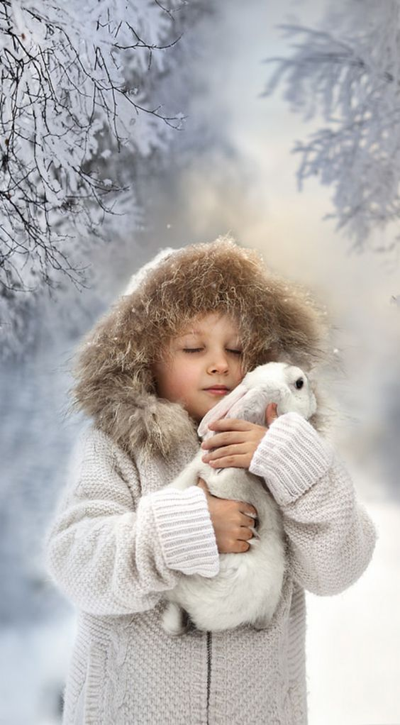 Winter - Children - by Elena Shumllova:
