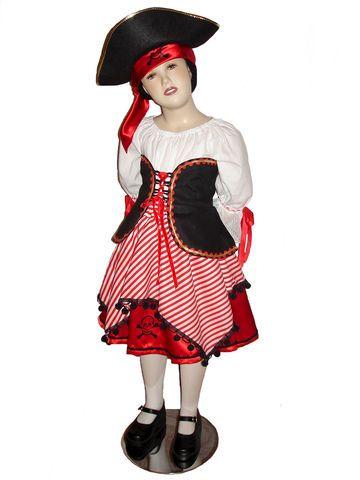 Custom Boutique Halloween PIRATE Girl's Size Costume Set
