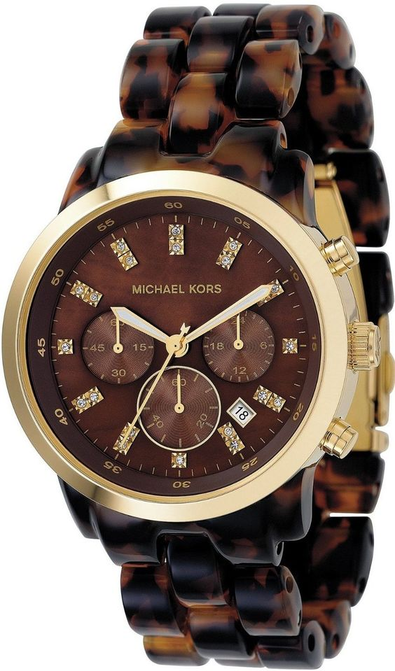 Michael Kors Watch , Michael Kors Women's MK5216 Chronograph Tortoise Watch...$160.65
