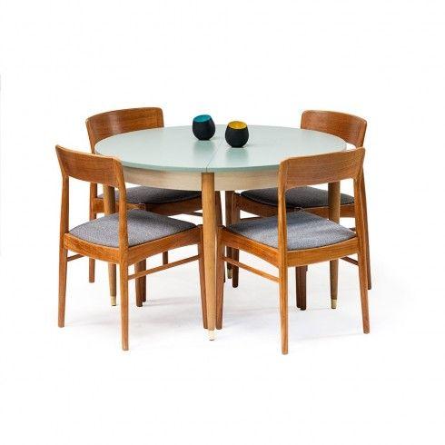 table ronde manger vintage ann es 50 60 d co. Black Bedroom Furniture Sets. Home Design Ideas
