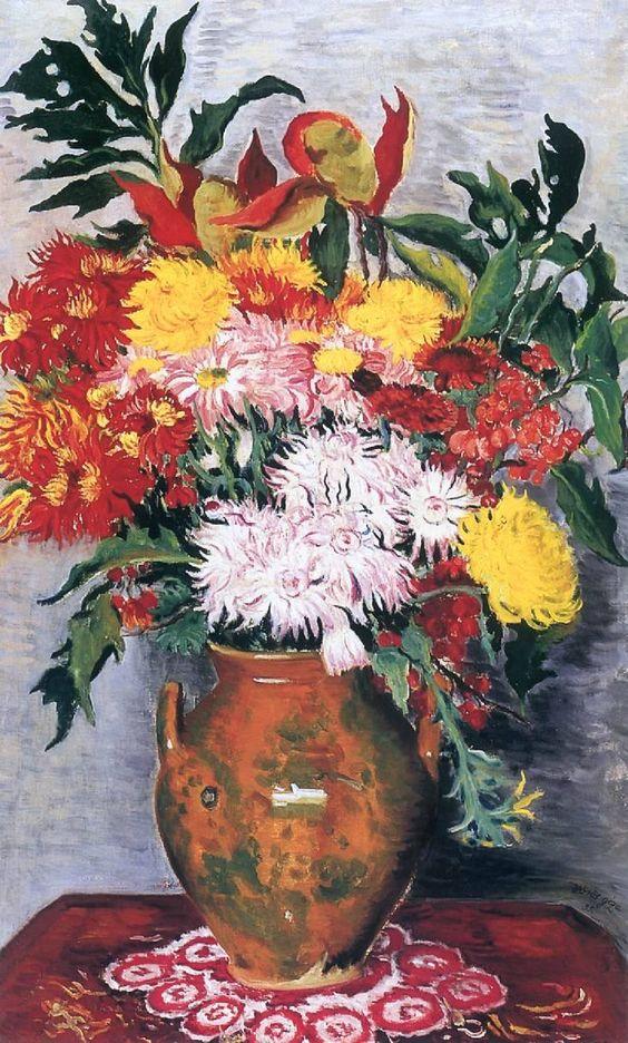 Géza Vörös (Hungarian, 1897-1957) Flower Still-life 1935