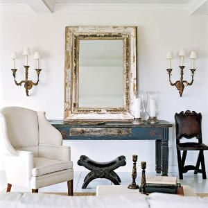 Mirror/table/chair: Darryl Carter| Southern Accents