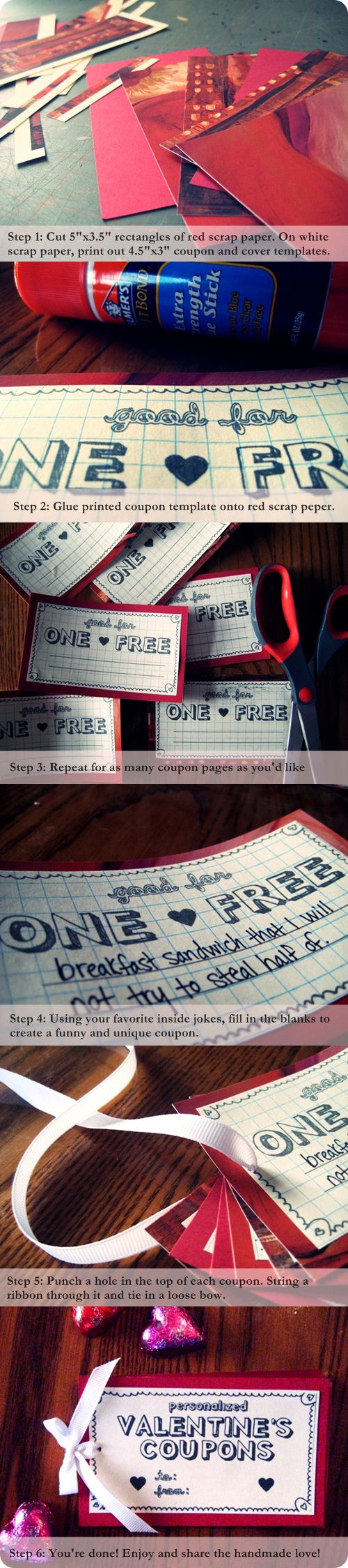 Boyfriend coupon book printable