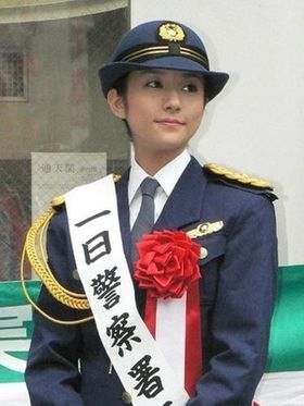 一日警察署長の木村文乃