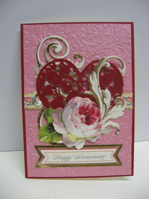 Anniversary Card 2015 using Anna Griffin supplies by Sandi Beecher