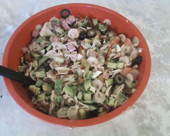 """Greek Pasta Salad - By Pam Wattenbarger - From """"Just Like June"""""""