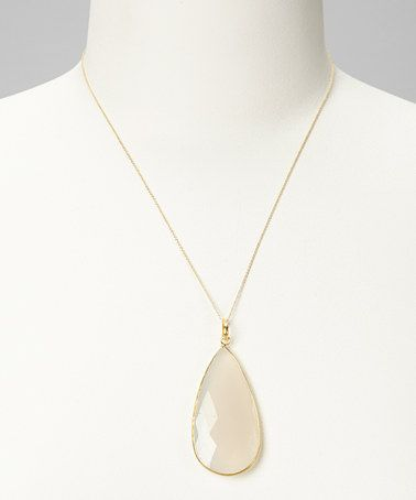 Take a look at this Moonstone Oval Pendant Necklace by Best Silver on #zulily today!