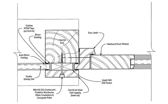 the green oak carpentry company  direct glazing system