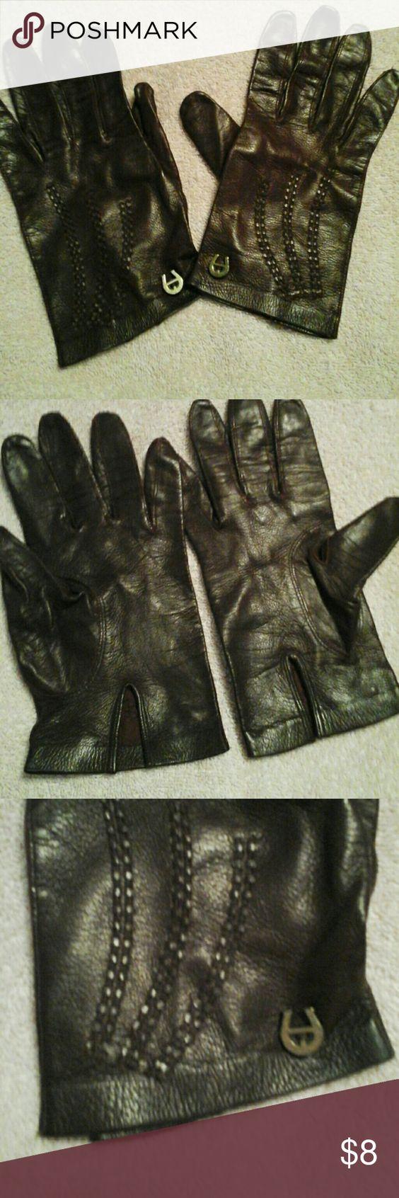 Etienne aigner black leather gloves - Etienne Aigner Gloves Size Small Leather Gloves Etienne Aigner Accessories Gloves Mittens